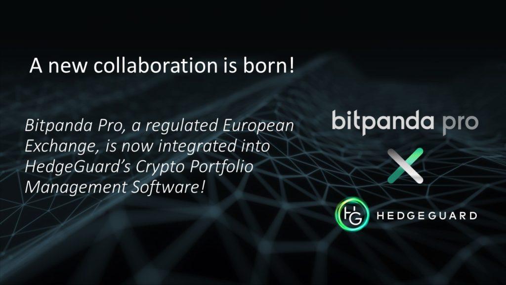 Bitpanda pro is connected to Hedgeugard's Portfolio Management System